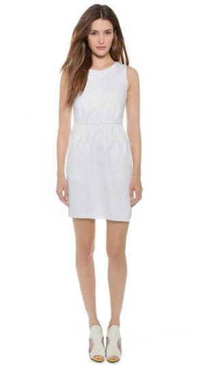 Драпированное платье David O'2nd. Цвет: белый