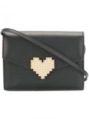 Клатч с принтом сердца Lulu Les Petits Joueurs. Цвет: чёрный