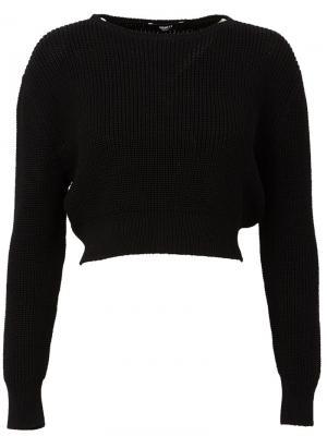 Укороченный свитер Yang Li. Цвет: чёрный