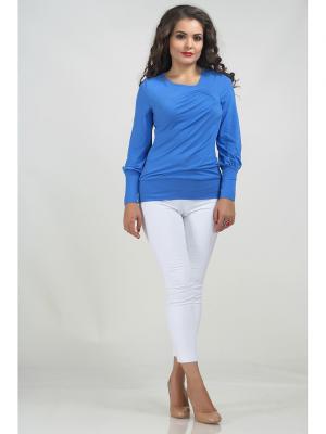 Блузка LIORA. Цвет: голубой