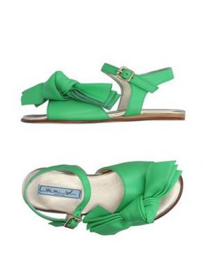 Сандалии MIMISOL. Цвет: зеленый