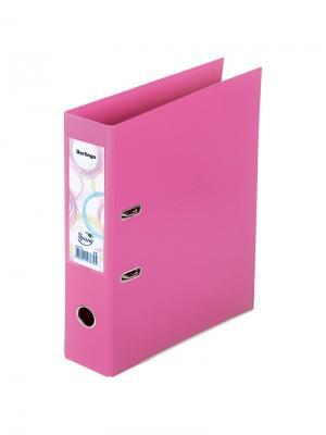 Папка-регистратор Spring двусторонняя с карманом Berlingo. Цвет: розовый