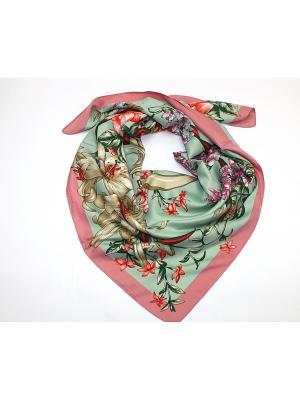 Платок Dolci Capricci. Цвет: серо-зеленый, лиловый