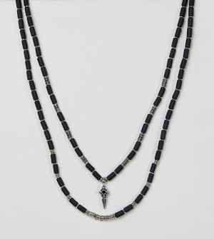 Reclaimed Vintage Ожерелье Inspired эксклюзивно для ASOS. Цвет: серебряный