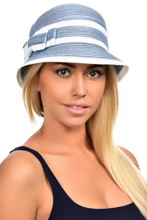 Шляпа DelMare. Цвет: голубой, белый