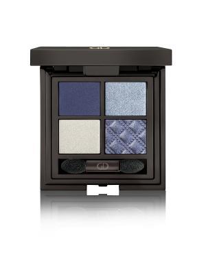 Тени для век четырехцветные IDYLLIC SOFT SATIN  (WITHOUT MIRROR) No.39 GA-DE. Цвет: голубой