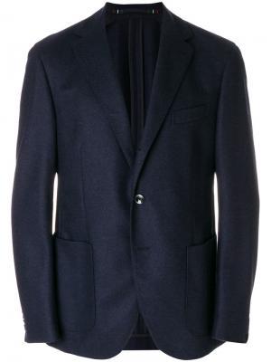 Классический пиджак Cantarelli. Цвет: синий