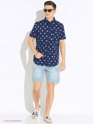 Рубашка SELA. Цвет: темно-синий