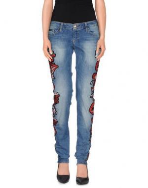 Джинсовые брюки PHILIPP PLEIN. Цвет: синий
