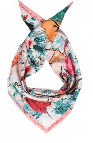 Шелковый платок с принтом Christian Lacroix. Цвет: бежевый