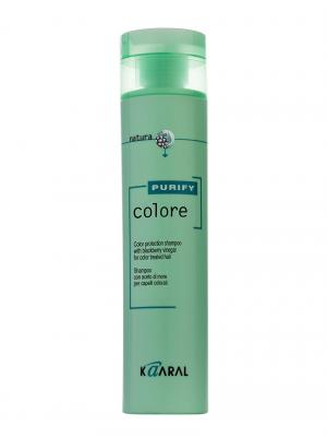 Purify Шампунь для окрашенных волос на основе фруктовых кислот ежевики Colore Shampoo 250мл. Kaaral. Цвет: светло-зеленый