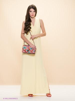 Платье ELENA FEDEL. Цвет: светло-желтый