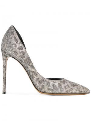 Туфли Lima с отделкой металлик Alexandre Vauthier. Цвет: металлический
