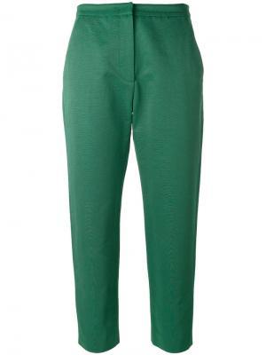Укороченные брюки MSGM. Цвет: зелёный