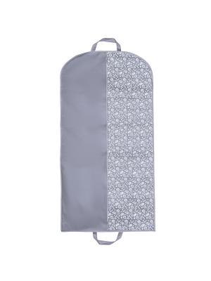 Чехол для одежды Paisley (120х60 см), серый Homsu. Цвет: серый, белый