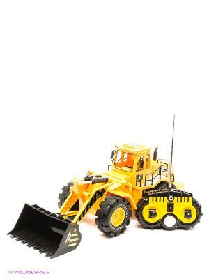 Трактор с ковшом р/у 1:10, 6 каналов Пламенный мотор. Цвет: желтый