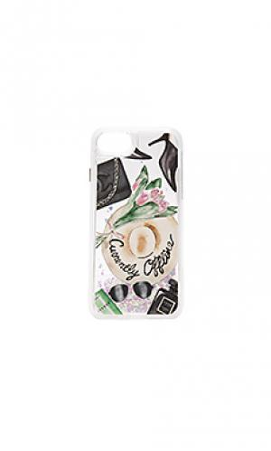 Блестящий кейс для iphone 7 currently offline Casetify. Цвет: розовый