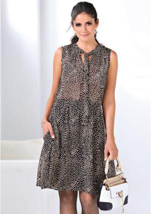 Платье Venca. Цвет: черный (черный/белый)