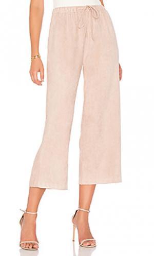 Замшевые брюки MINKPINK. Цвет: розовый