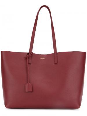 Большая сумка-шоппер Saint Laurent. Цвет: красный