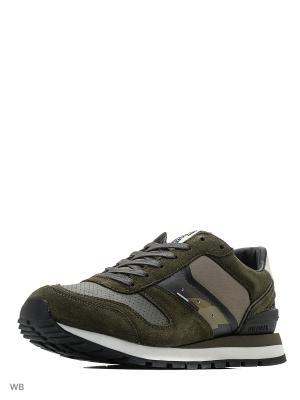 Кроссовки Tommy Hilfiger. Цвет: оливковый