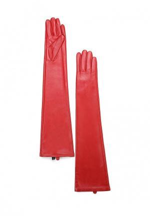 Перчатки MAISONQUE. Цвет: красный