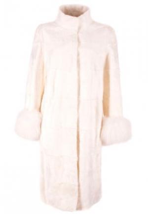 Меховое пальто MALA MATI. Цвет: белый