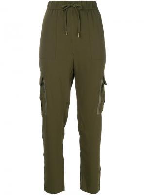 Брюки с боковыми карманами Polo Ralph Lauren. Цвет: зелёный