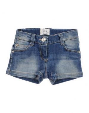 Джинсовые шорты ILLUDIA. Цвет: синий