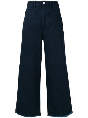 Широкие джинсы Masscob. Цвет: синий