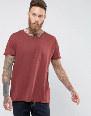 Nudie Jeans Меланжевая футболка Co Roger. Цвет: красный