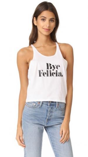 Топ Bye Felicia без рукавов CHRLDR. Цвет: белый