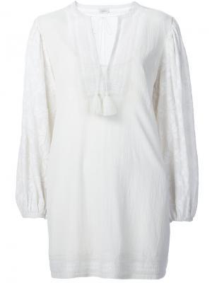 Блузка с крестьянском стиле Talitha. Цвет: белый