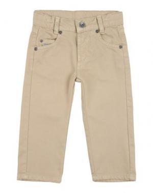 Джинсовые брюки EDDIE PEN. Цвет: бежевый