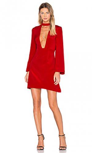 Мини платье с глубоким v-образным вырезом JILL STUART. Цвет: красный