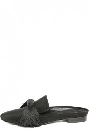 Шелковые домашние туфли Maestro с кисточками Aleksandersiradekian. Цвет: черный