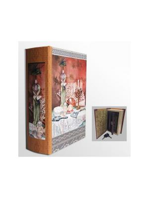 Шкатулка-сейф Дамский будуар арт.39518 (17*11*5см,из МДФ  с дверцей из черного металла) Magic Home. Цвет: белый