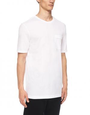 Хлопковая футболка Helmut Lang. Цвет: белый