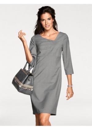 Платье-футляр PATRIZIA DINI. Цвет: серебристо-серый