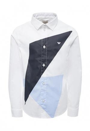 Рубашка Armani Junior. Цвет: белый