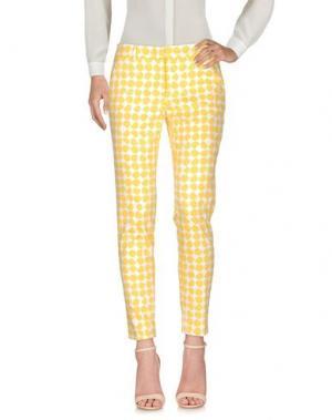 Повседневные брюки PESERICO SIGN. Цвет: желтый