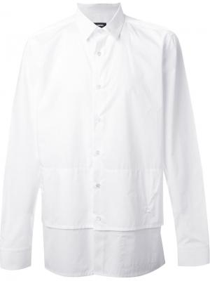 Многослойная рубашка Raf Simons. Цвет: белый