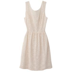 Платье без рукавов с застёжкой сзади MOLLY BRACKEN. Цвет: слоновая кость,темно-синий