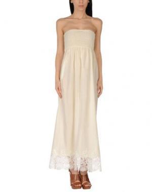 Пляжное платье MISS NAORY. Цвет: светло-желтый