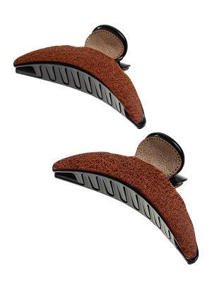 Комплект (Заколка краб - 2 шт.) Migura. Цвет: коричневый, бежевый