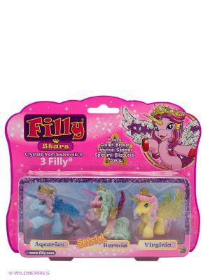 Игровой набор лошадки Филли/Filly Звезды Друзья Aguarius Hermia Virginia Dracco. Цвет: розовый