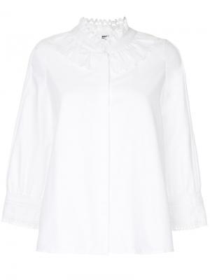 Рубашка с вырезными деталями Vilshenko. Цвет: белый