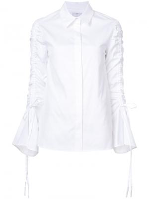 Рубашка с завязками на рукавах C/Meo. Цвет: белый