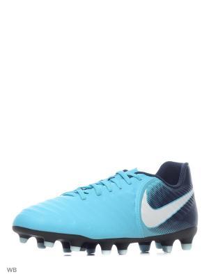 Бутсы TIEMPO RIO IV FG Nike. Цвет: голубой