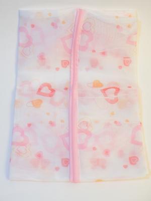 Мешок для стирки белья и носков на замке, полиэстер, 50х60см KONONO. Цвет: белый